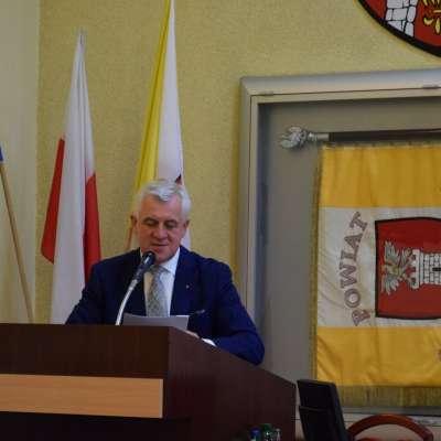 Przemawia Starosta Częstochowski Krzysztof Smela